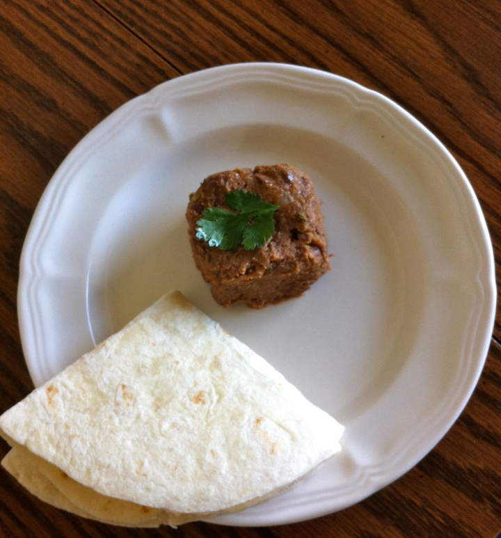 Spicy homemade refried beans