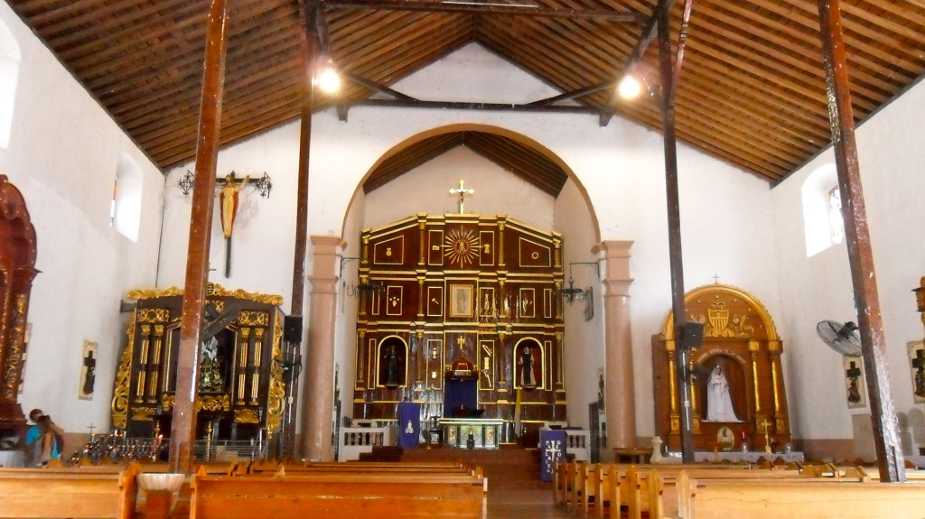 Inside the Iglesia de San Felipe in Portobelo