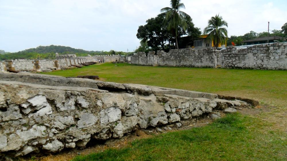 A fort called Batteria Santiago in Portobello, Panama.