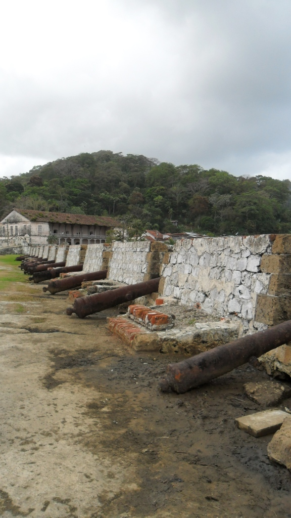 Cannons in Batteria Santiago, Portobello, Panama.
