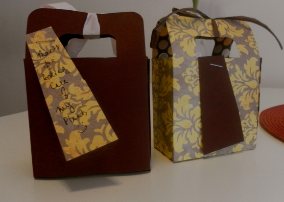 Custom-made gift bags for assorted chocolate truffles
