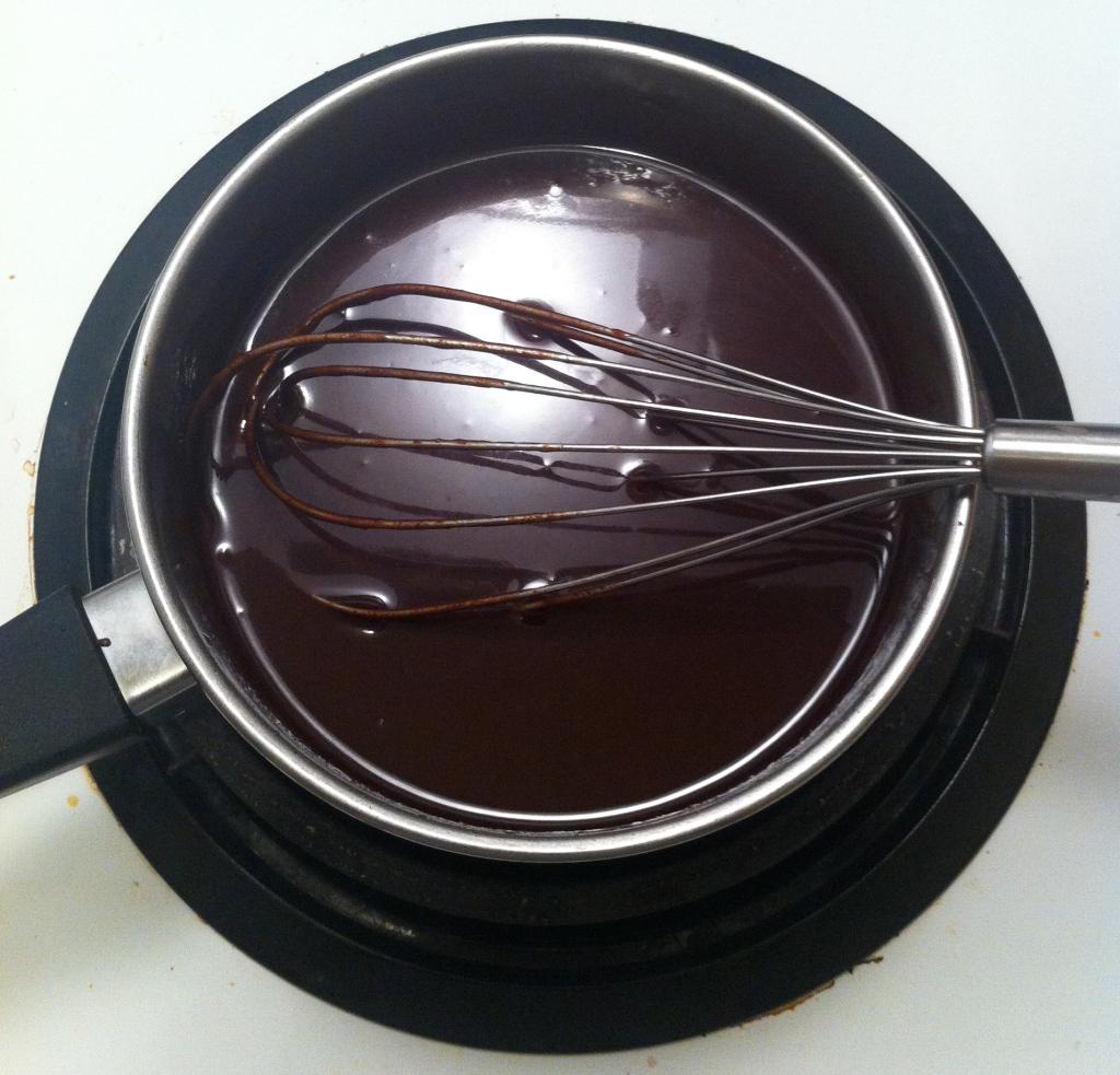 Homemadel hot chocolate sauce
