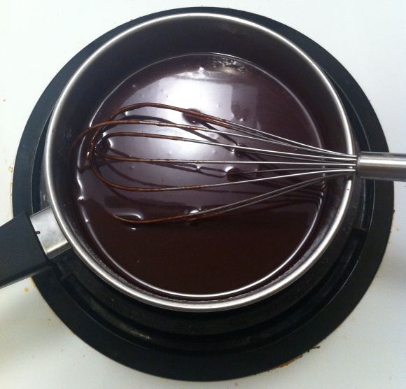 Homemadel hot chocolate sauce