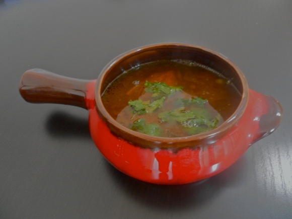 Peppery low fat Indian lentil-soup