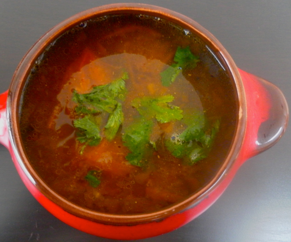 Recipe for peppery low fat South-Indian lentil-soup