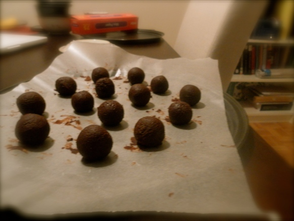 Masala chai/black-tea flavoured truffles