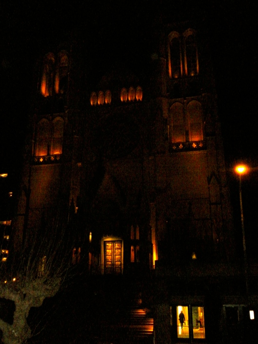 Grace Cathedral at night, San Francisco