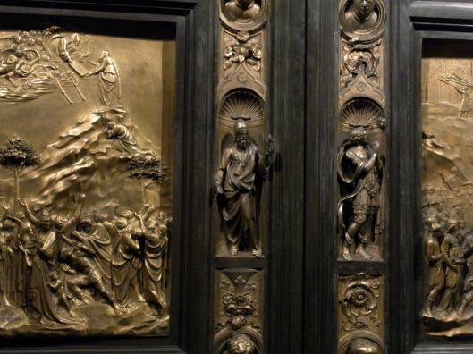 Close-up of Ghiberti Doors, Grace Cathedral, San Francisco