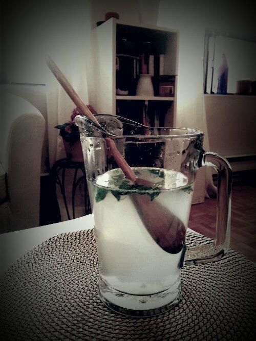 Cool fresh, minty limeade/lemonade