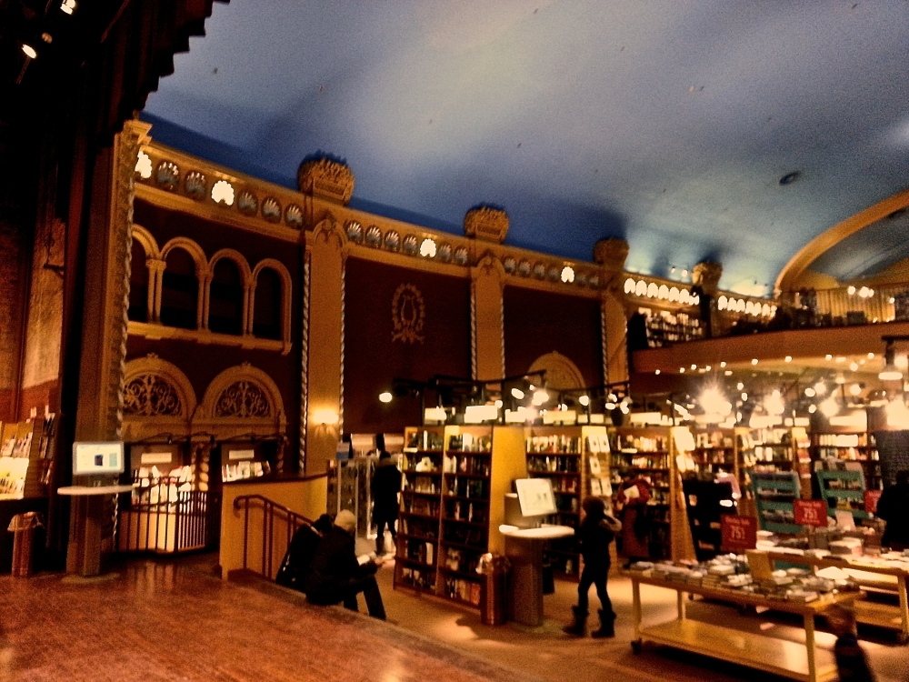 Bookstore in historical theatre