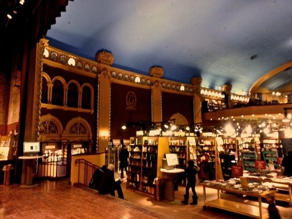 Bookstore in historical theatre