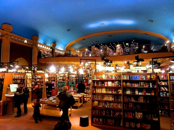 Bookstore inside gorgeous old theatre