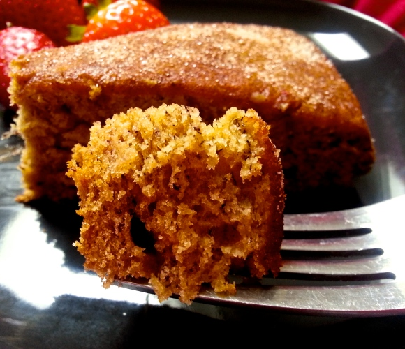 Cinnamon, nutmeg, banana rum cake