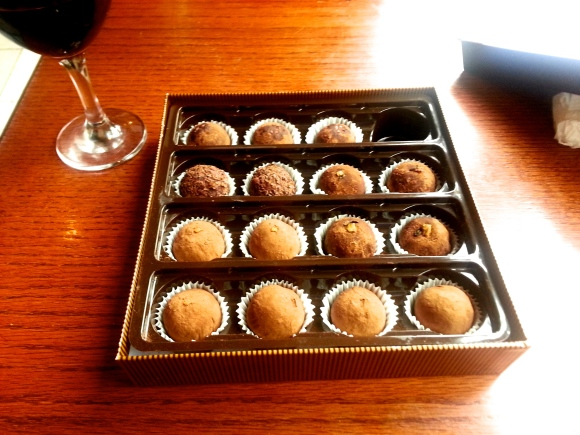 Homemade truffles as a gift