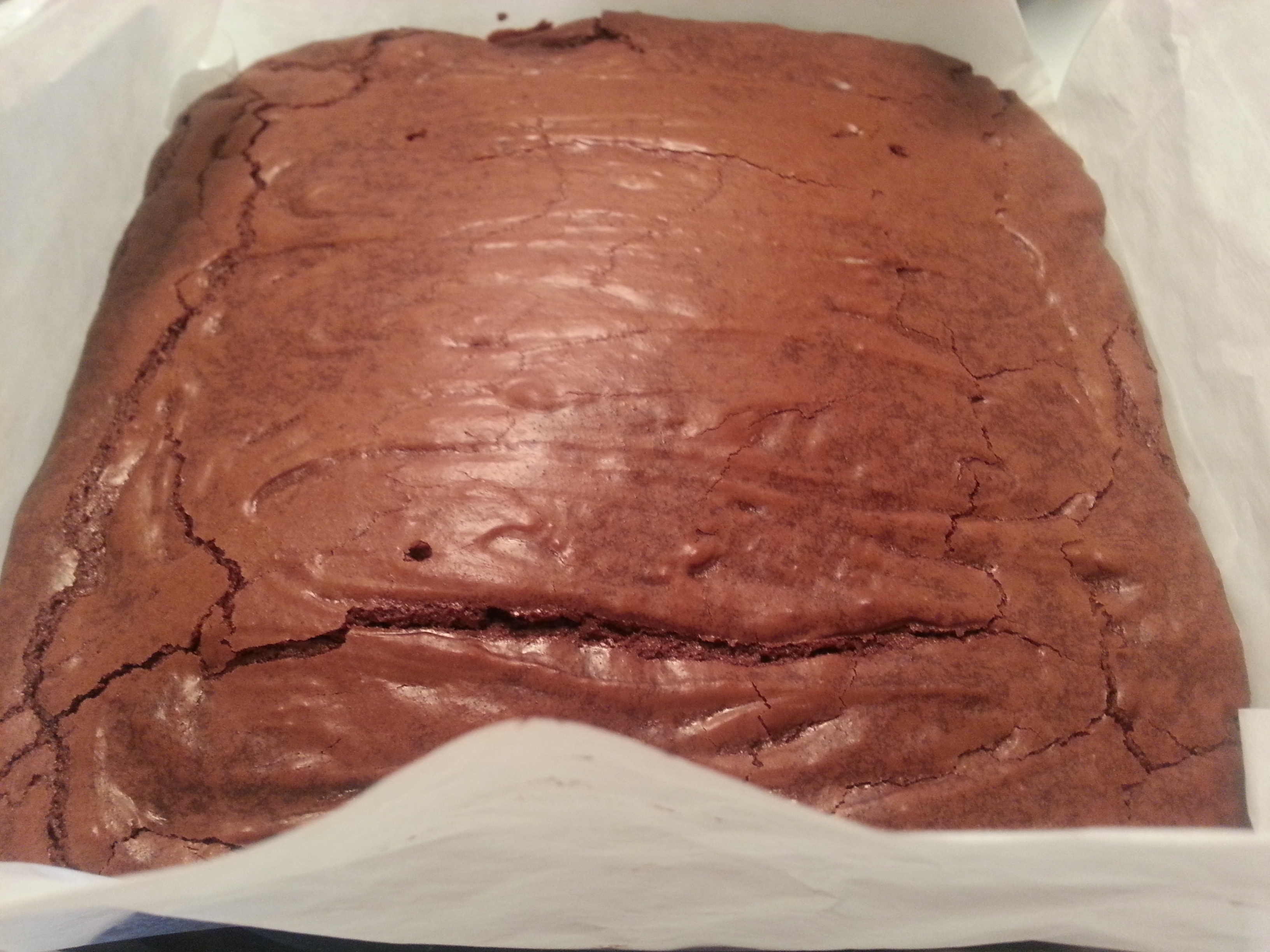 Chewy fudge brownies with crips tops and gooey centres