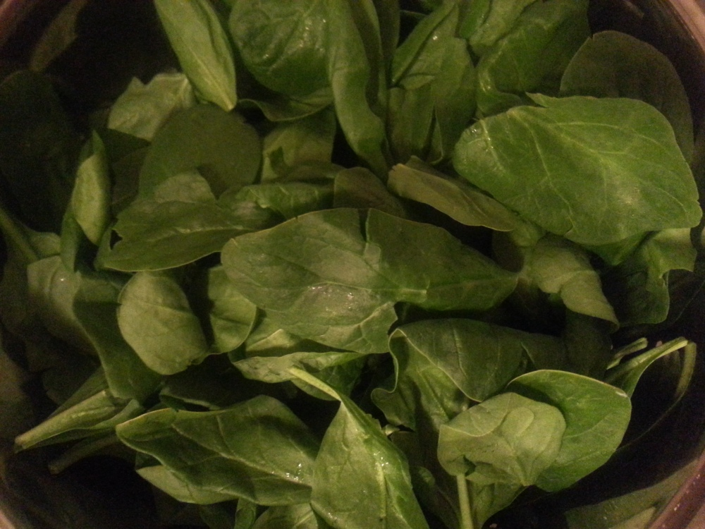 Spinach for healthy lentil soup