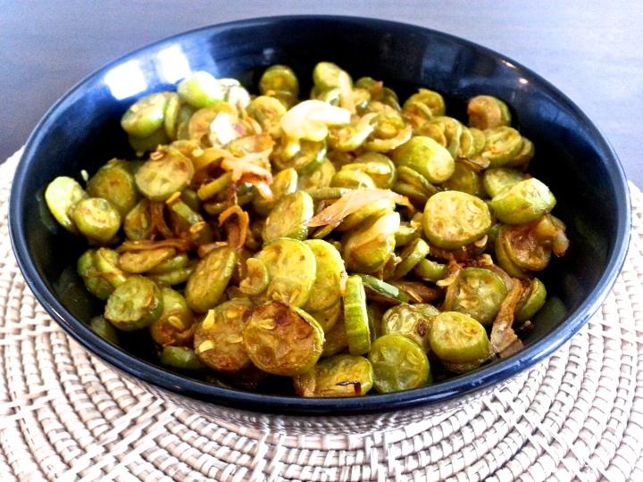 Tindora, Dondakaya, Indian Ivy Gourd, Low fat South Indian Vegetable Sauté