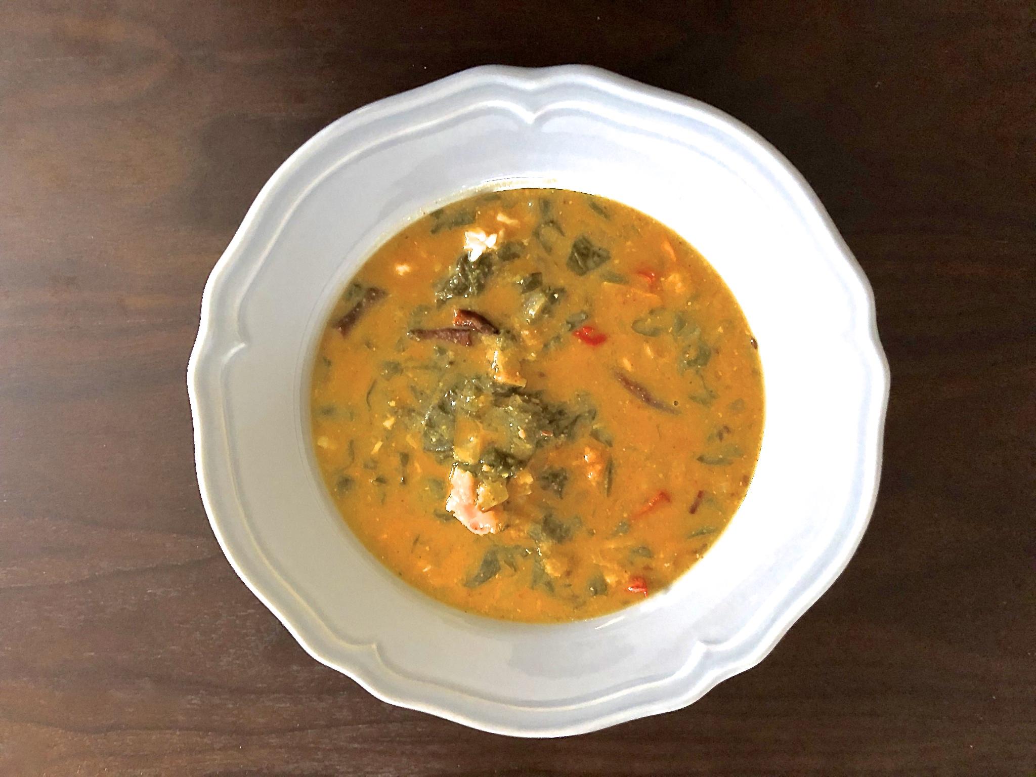 Vegan spinach lentils
